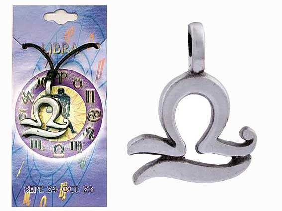 Astrological Pewter Pendant – LIBRA